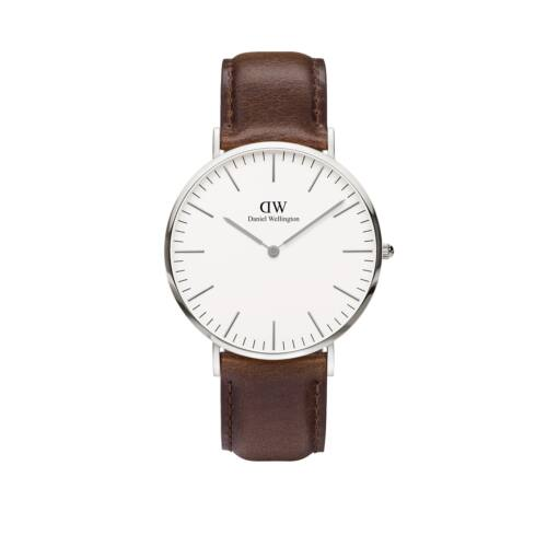 Classic Bristol Man Watch Silver 40 mm
