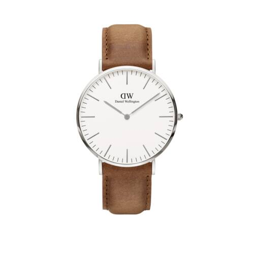 Classic Durham Man Watch Silver 40 mm