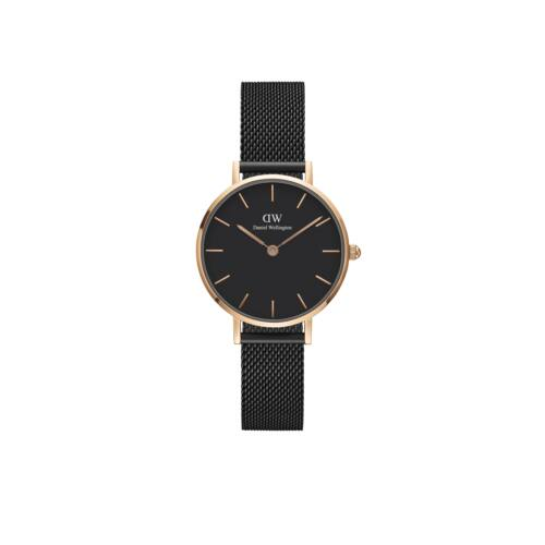 Classic Petite Ashfield Rose Gold Black 28 mm