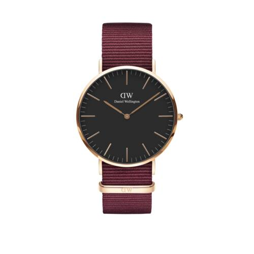 Classic Roselyn Man Watch Rose Gold Black 40 mm