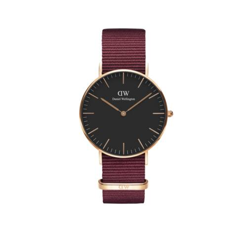 Classic Roselyn Lady Watch Rose Gold Black 36 mm