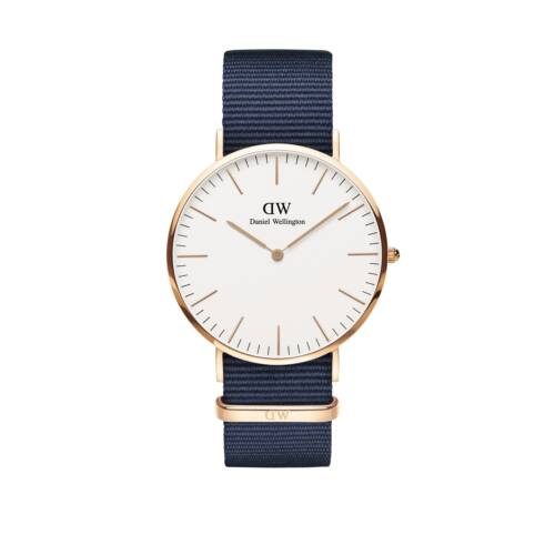 Classic Bayswater Man Watch Rose Gold White 40 mm