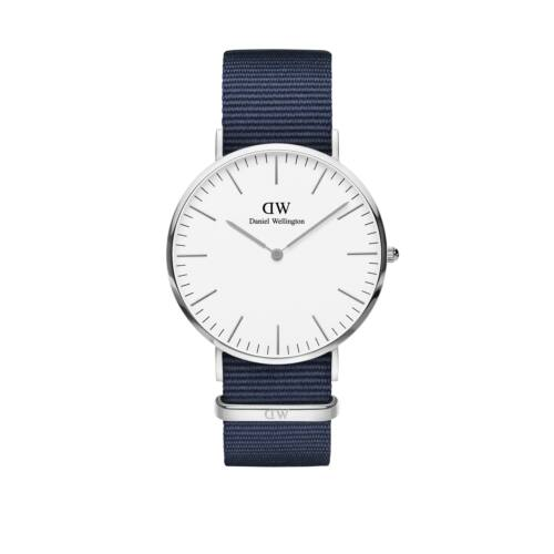 Classic Bayswater Man Watch Silver White 40mm