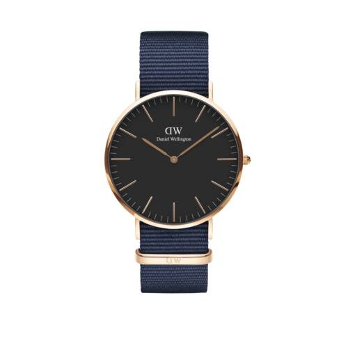 Classic Bayswater Man Watch Rose Gold Black 40 mm
