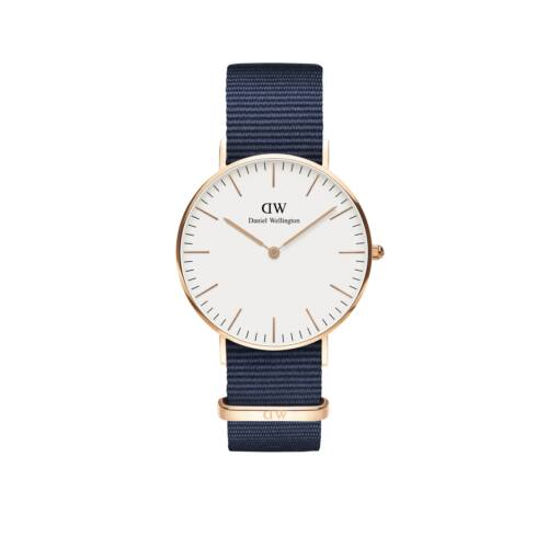 Classic Bayswater Lady Watch Rose Gold White 36 mm
