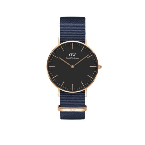 Classic Bayswater Lady Watch Rose Gold Black 36 mm