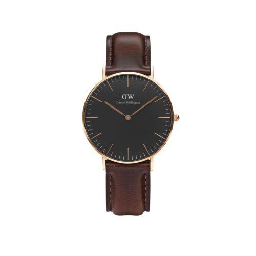 Classic Black Bristol Lady Watch Rose Gold 36 mm