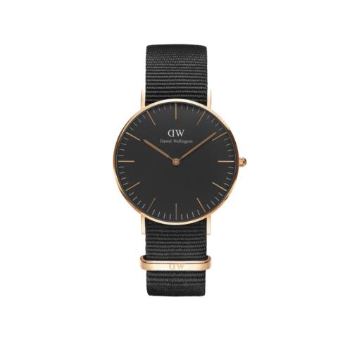 Classick Black Conwall Nato Lady Watch Rose Gold 36 mm