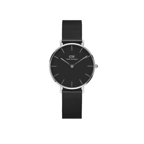 Classic Petite Ashfield Silver Black 28 mm
