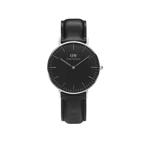 Classic Black Sheffield Lady Watch Silver 36 mm