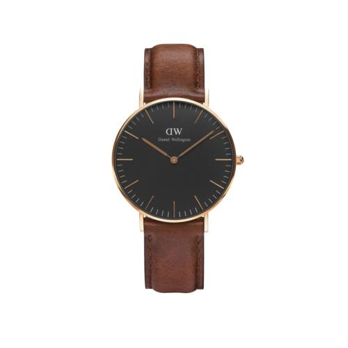 Classic Black St.Mawes Lady Watch Rose Gold 36 mm