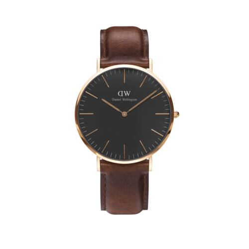 Classic Black St.Mawes Man Watch Rose Gold 40 mm