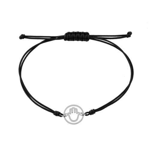 Fehérarany karkötő 14 K fekete
