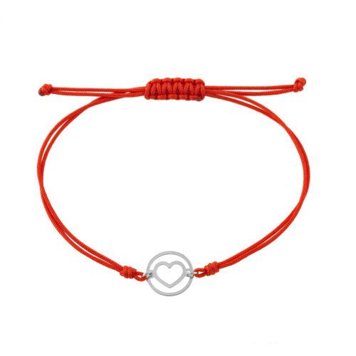 Fehérarany karkötő 14 K piros