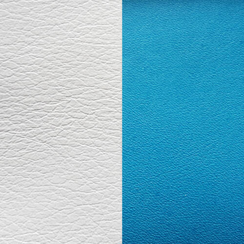 White/Turquoise 25 mm karkötő bőr
