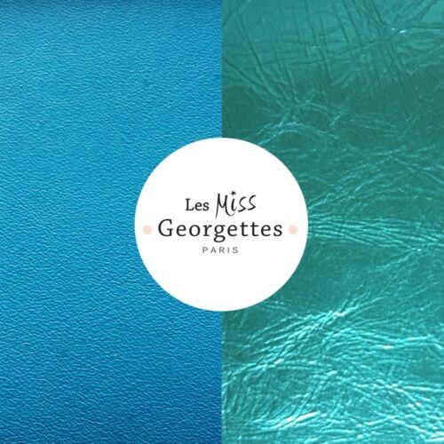 Turquoise / Blue 12 mm karkötő bőr