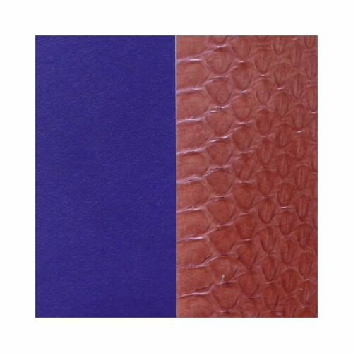 Terracotta/Violet 14 mm  karkötő bőr
