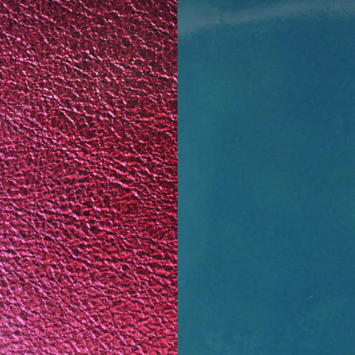 Blue Denim/Burgundy 14 mm karkötő bőr