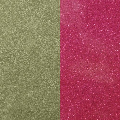 Aloé / Glitter Fuchsia karkötő bőr 25 mm