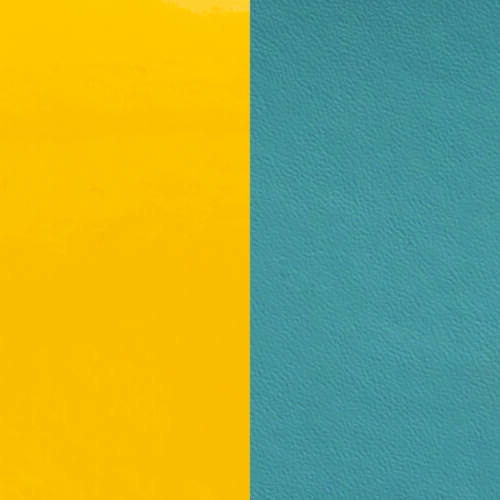Yellow / Bluestone 14 mm karkötő bőr