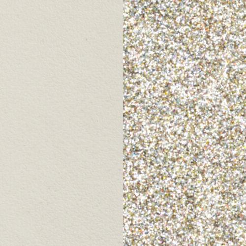 Cream / Gold Glitter 8 mm karkötő bőr