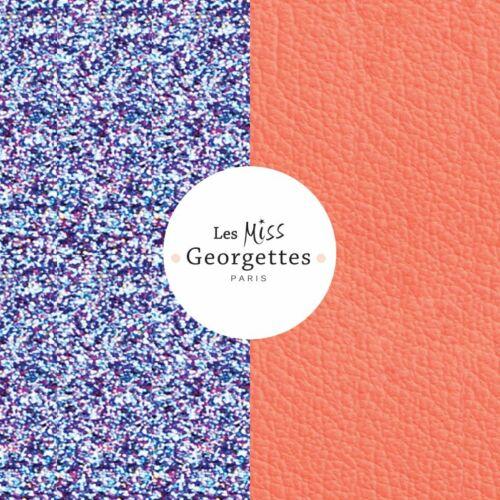 Pink Glitter / Orange 12 mm karkötő bőr