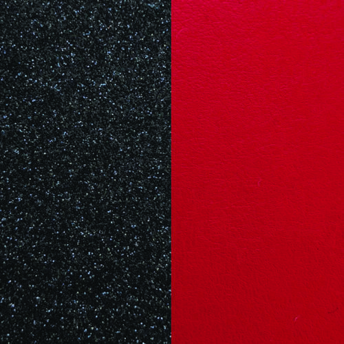 Black Glitter/Red 25 mm karkötő bőr