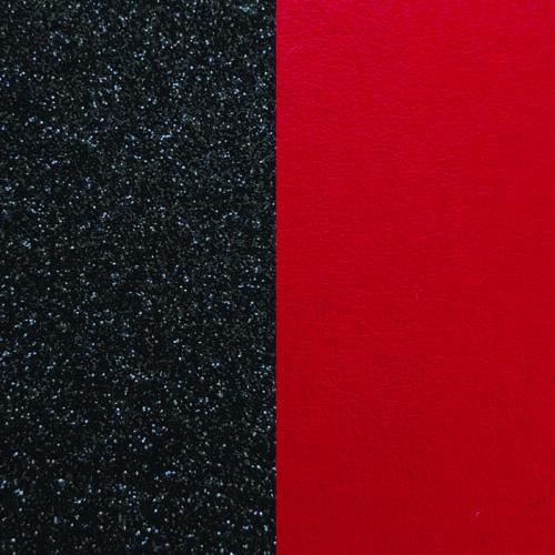 Black Glitter/Red bőr 8 mm karkötő bőr