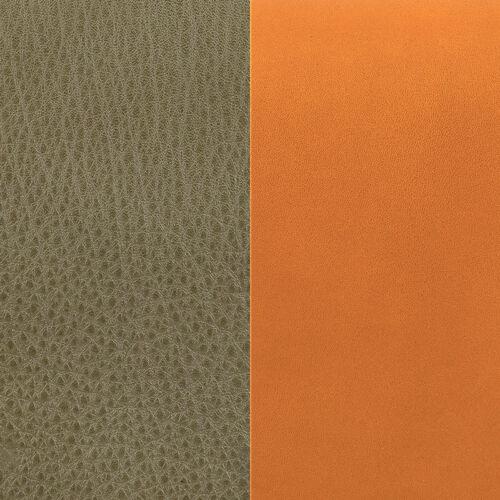 Kaki/Cognac bőr 8 mm karkötő bőr