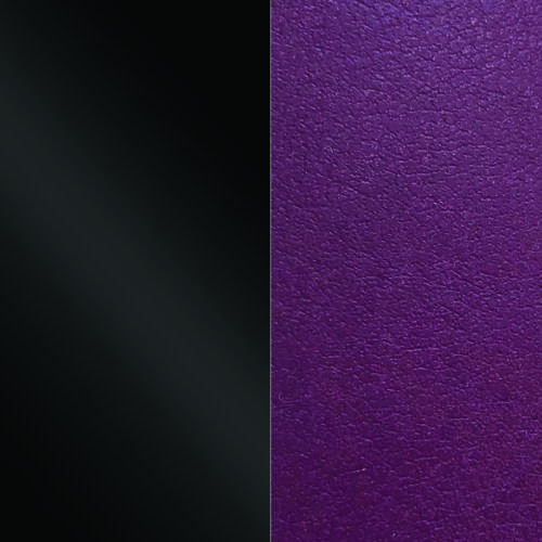 Black/Dark purple 14 mm karkötő bőr