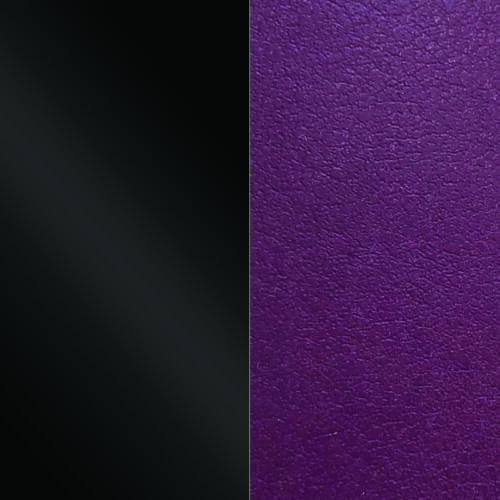 Black/Purple karkötő bőr 8 mm