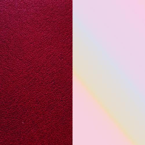 Red/Cream bőr 8 mm karkötő bőr
