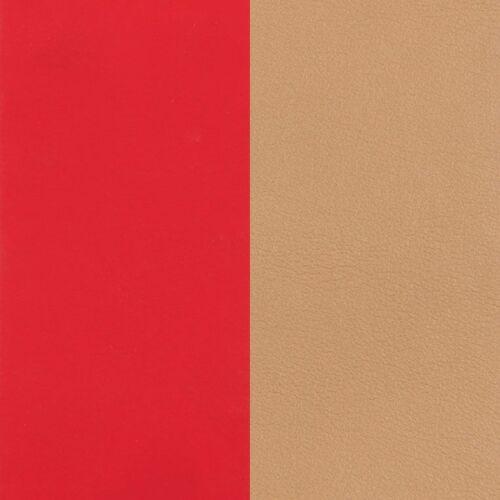 Soft red/Beige karkötő bőr 25 mm