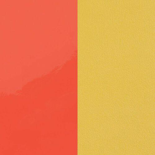Neon orange/ Canary yellow bőr 40 mm