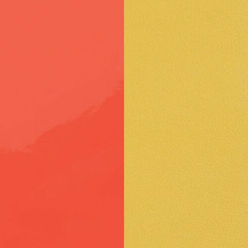 Neon orange/ Canary yellow karkötő bőr 2