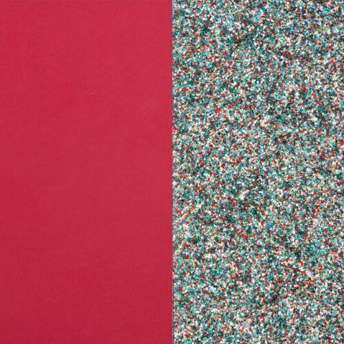 Raspberry/Glitter karperec bőr 40 mm