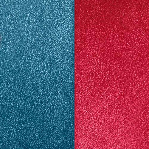 Petrol blue/Raspberry 25 mm karkötő bőr